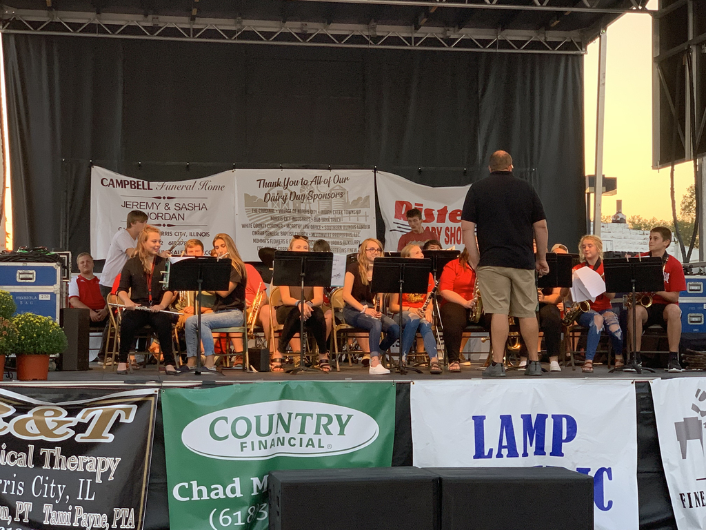 NCOE band at Dairy Day 2019