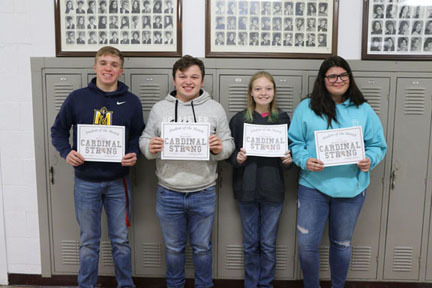 NCOE Students of the Month for December